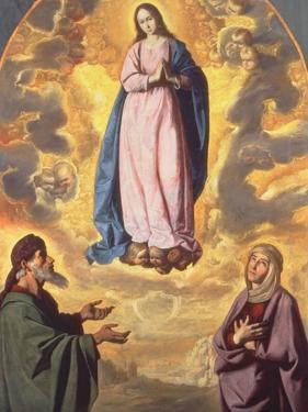 The Immaculate Conception with Saint Joachim and Saint Anne, C.1638-40 by Francisco de Zurbaran
