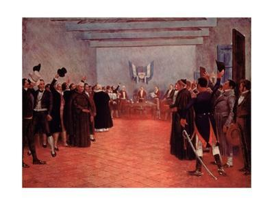 The Congress of Tucuman, the Declaration of Independence of Argentina from Spain in 1816