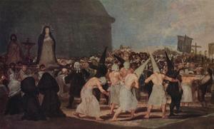 A Procession of Flagellants', 1812-1819 (1939) by Francisco Goya