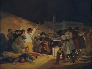 'Escenas Del 3 De Mayo De 1808', (May 3, 1808 in Madrid), 1814, (c1934) by Francisco Goya