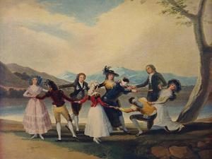 'La Gallina Ciega', (Blind Man's Buff), 1788, (c1934) by Francisco Goya