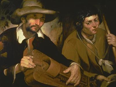 The Blind Hurdy-Gurdy Player, C.1640 by Francisco Herrera