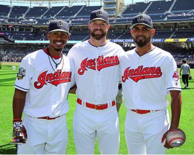 Francisco Lindor, Corey Kluber, & Danny Salazar 2016 MLB All-Star Game