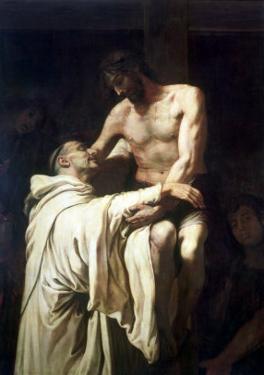 Christ Embracing St. Bernard by Francisco Ribalta