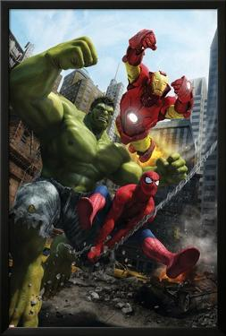 Marvel Adventures Iron Man Special Edition No.1 Cover: Iron Man, Hulk and Spider-Man by Francisco Ruiz Velasco