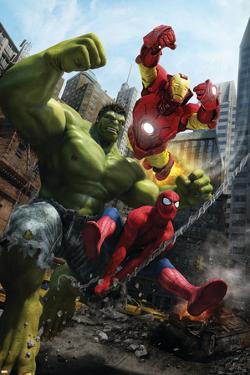 Marvel Adventures Iron Man Special Edition No.1 Cover: Iron Man, Hulk and Spider-Man by Francisco Ruiz Velasco