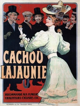 Cachou Lajaunie. Recommandé Aux Fumeurs Chauffeurs Cyclistes Etc, C. 1890
