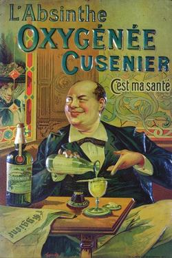 Poster Advertising 'Oxygenee Cusenier Absinthe' by Francisco Tamagno