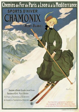 Poster Advertising Sncf Routes to Chamonix, 1910 by Francisco Tamagno
