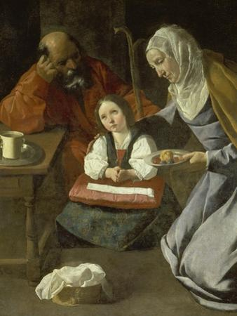 Mary as Child with St. Joachim and St. Anne by Francisco Zurbaran y Salazar