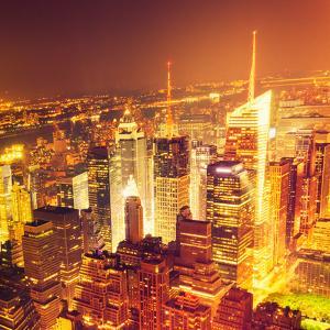 Aerial View over Manhattan Skyline by franckreporter