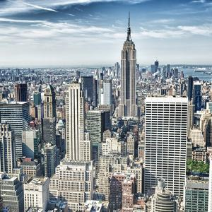 HDR of Empire State Building and Manhattan Panorama in NYC by franckreporter