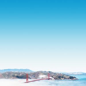 San Francisco Golden Gate Bridge in the Middle of Clouds by franckreporter