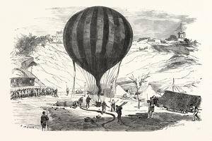 Franco-Prussian War: the Balloon Neptune on the St. Pierre De Montmartre Square