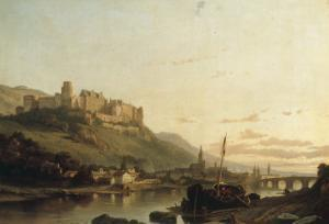 A View of Heidelberg and the River Neckar by Francois Antoine Bossuet
