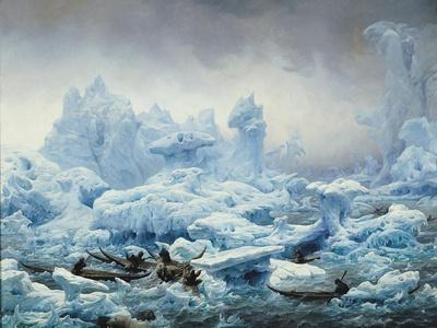 Fishing for Walrus in the Arctic Ocean, 1841