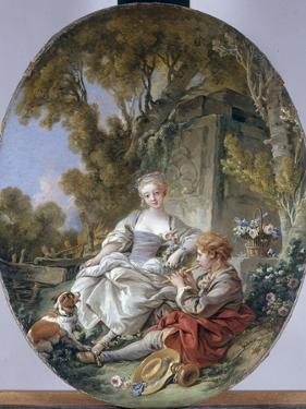 Le Joueur De Flageolet, 1766 by Francois Boucber