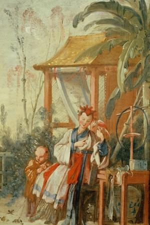 A Chinese Garden, Study for a Tapestry Cartoon, C.1742 by Francois Boucher