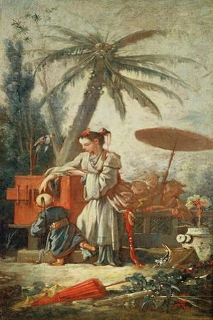 Chinese Curiosity, Study for a Tapestry Cartoon, C.1742 by Francois Boucher