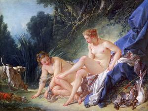 Diana Getting Out of Her Bath, 1742 by François Boucher