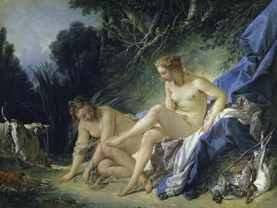 Diana Leaving the Bath, c.1742 by Francois Boucher