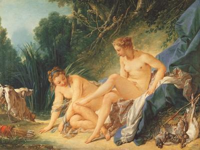 El baño de Diana. Museo de Louvre. Paris. by Francois Boucher