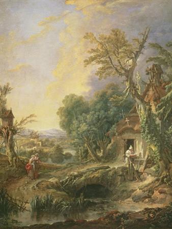 Landscape with a Hermit, 1742 by Francois Boucher