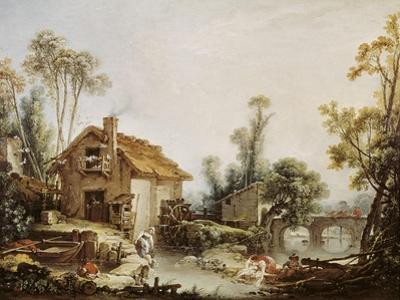 Landscape with a Watermill by Francois Boucher