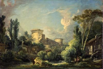 Landscape with Castle and Mill, c.1765 by Francois Boucher