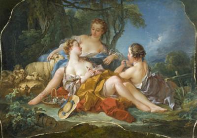 Les Confidences Pastorales, c.1745 by Francois Boucher