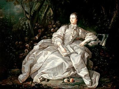 Madame De Pompadour (1721-64) by Francois Boucher