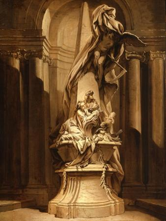 Monument to Mignard, c.1735 by Francois Boucher