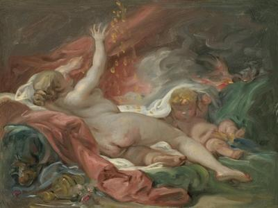 Study for Danae and the Shower of Gold, c.1760 by Francois Boucher
