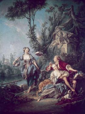 The Flower Gatherers by Francois Boucher