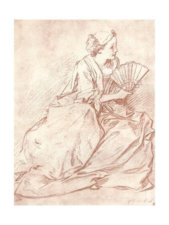 'The Lady with the Fan', 18th century