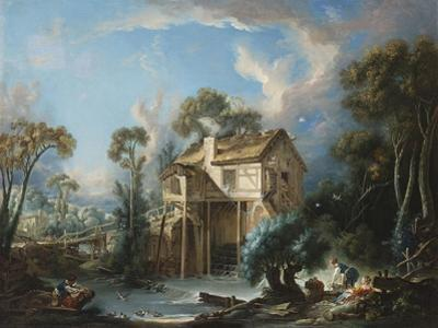 The Mill at Charenton, C.1756 by Francois Boucher
