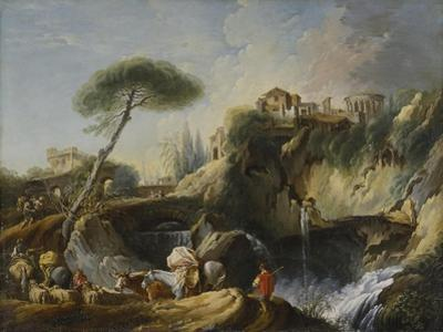 View of Tivoli with the Temple of Vesta, c.1749 by Francois Boucher