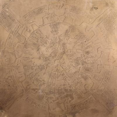 Astrological Planisphere of Zodiac of Denderah, from chapel ceiling at Temple of Hathor, Egypt