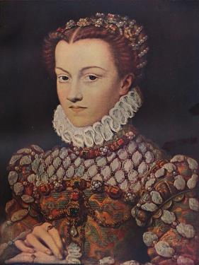 Elizabeth of Austria, (1554-1592), wife of King Charles IX (1550-1574), c1571, (1911) by Francois Clouet