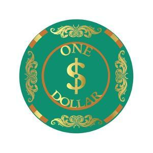 Pokerchip $1, 2015 by Francois Domain