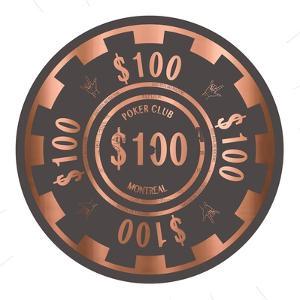 PokerChip $100, 2015 by Francois Domain
