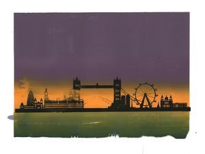 Sunset on London by Francois Domain
