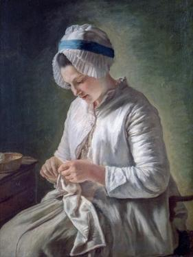 Young Woman at Work, C1725-1778 by Francois Duparc