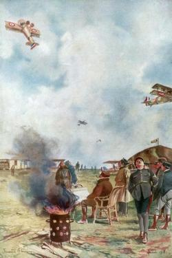 An Inversion a Little Close to the Ground, 1918 by Francois Flameng