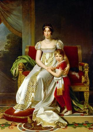 Hortense De Beauharnais (1783-1837) Queen of Holland and Her Son, Napoleon Charles Bonaparte by Francois Gerard