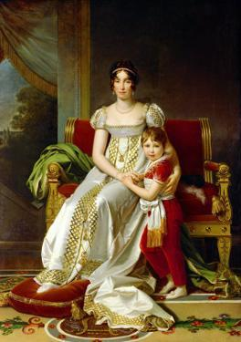 Hortense De Beauharnais (1783-1837) Queen of Holland and Her Son, Napoleon Charles Bonaparte by Francois Gerard