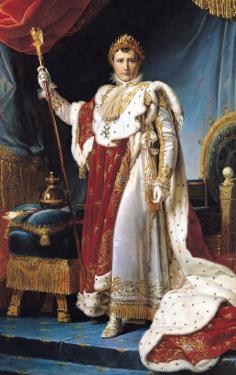 Napoleon I in His Coronation Robe, circa 1804 by Francois Gerard