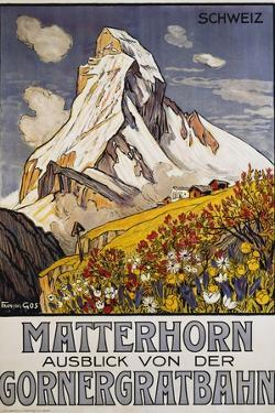 Matterhorn Travel Poster by Francois Gos by Francois Gos