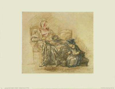 Reading Lady with a Child