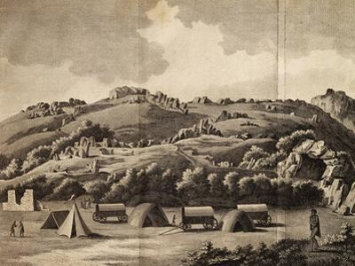 Heere Camp, Engraving from Journey into Africa, 1783-1785